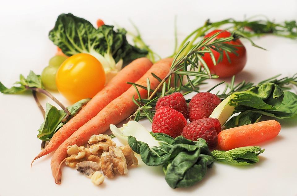 sund mad og grøntsager